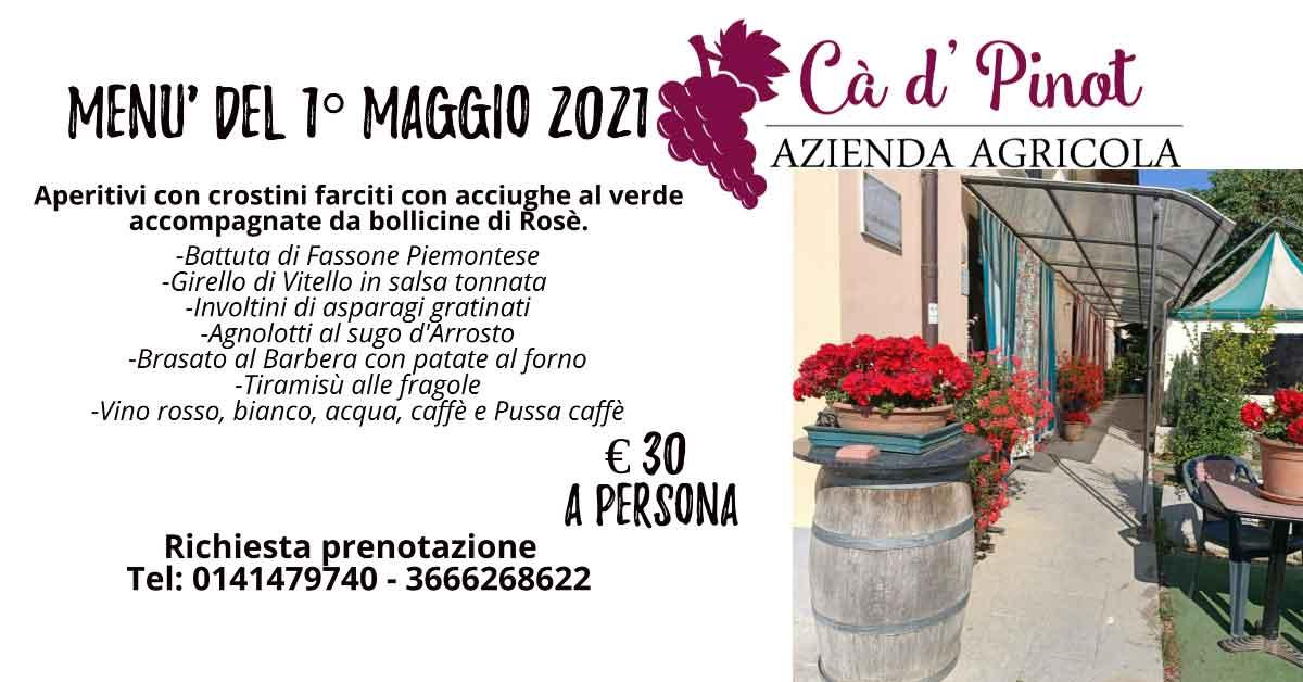 Read more about the article Menù del 1° Maggio 2021